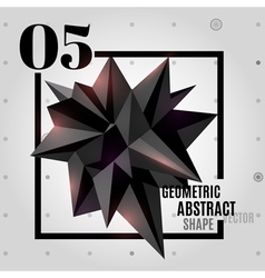 Dark abstract geometric polygonal shape vector image