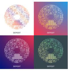 deposit line concept vector image