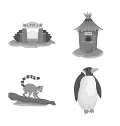 Design zoo and park sign collection of vector