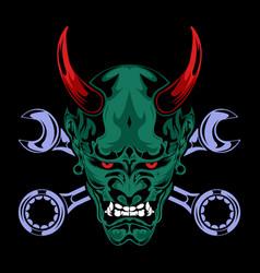 devil head cartoon vector image