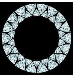 Diamond round frame on black background vector