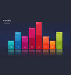 easy editable 8 options infographic design vector image