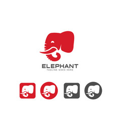 Elephant head icon and logo vector