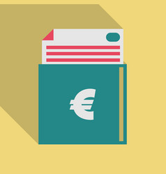 Euro finances icon flat additional versions of vector