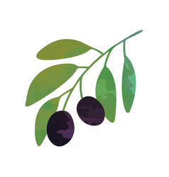 flat of branch with black vector image