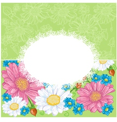 Floral background with chamomiles vector image