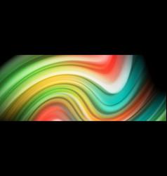 flowing liquid colors - modern colorful flow vector image