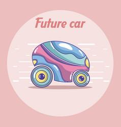 future car vehicle concept vector image