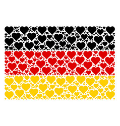 german flag pattern of valentine heart icons vector image