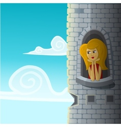 Girl in castle vector image