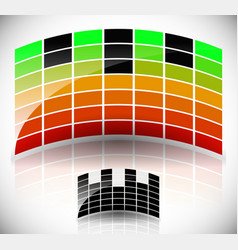 Glossy arching equalizer eq black symbol version vector