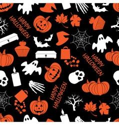halloween dark seamless pattern eps10 vector image
