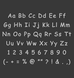 Handwritten letters english alphabet chalk vector
