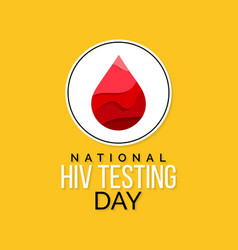 Hiv testing day vector