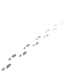 human shoues track gradient vector image