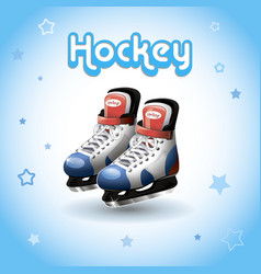 Ice hockey skates vector
