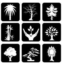 icons trees vector image vector image