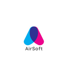 Initial letter a logo abstract air flow flight vector