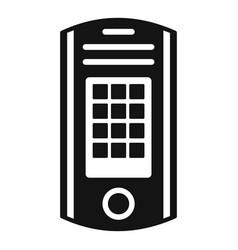 Intercom icon simple style vector