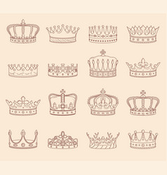 king and queen crown drawings vector image