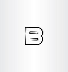 logo letter b logotype b black symbol vector image