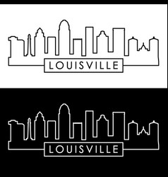 louisville skyline linear style editable file vector image
