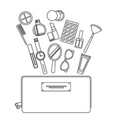 make up kit design vector image