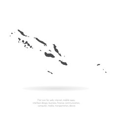 map solomon islands isolated vector image