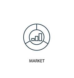 market concept line icon simple element vector image