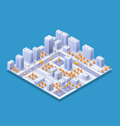 megapolis city quarter vector image