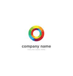 modern colorful gradient circle logo design vector image