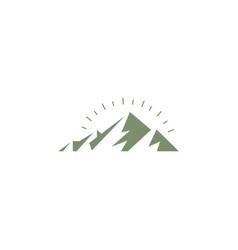 mountain abstract nature logo vector image