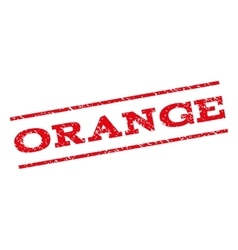 Orange Watermark Stamp vector