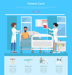 patient care services vector image