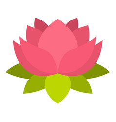 pink lotus flower icon isolated vector image