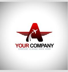 Plane Logo design Concept vector image
