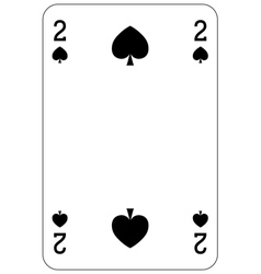 Poker playing card 2 spade vector image
