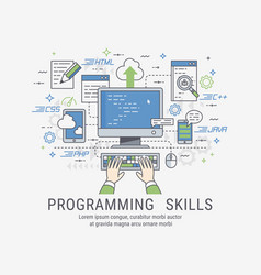 Programming skills for web vector