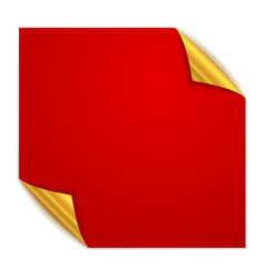 red square paper sticker vector image