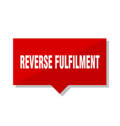 Reverse fulfilment red tag vector