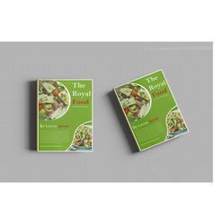 royal food book cover template design vector image