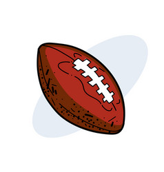 rugby ball hand drawn image vector image