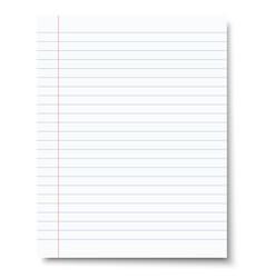 Ruled sheet notebook paper paper template vector