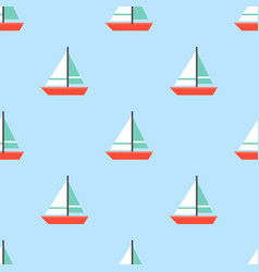 sailboat seamless pattern for use as wrapping vector image