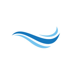sea wave logo vector image
