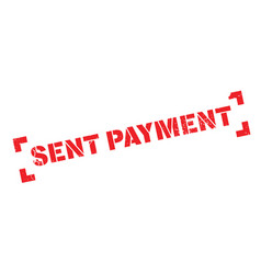 sent payment rubber stamp vector image