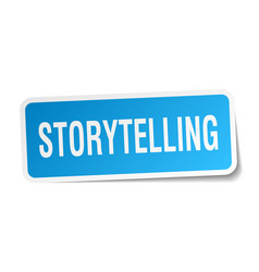 Storytelling square sticker on white vector