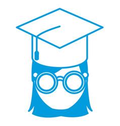 student graduation cartoon vector image