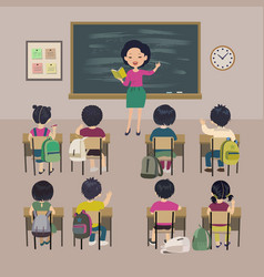teachers day background school lesson vector image