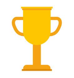 trophy cup winner icon vector image vector image